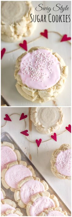 A soft, chewy cookie with a hint of almond and a thick layer of frosting!