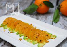 Ensalada de naranja y aguacate con vinagreta cítrica / Orange and avocado salad with citrus vinaigrette