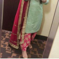 I will buy this suit. Punjabi Salwar Suits, Punjabi Dress, Designer Punjabi Suits, Patiala Salwar, Indian Designer Wear, Pakistani Dresses, Indian Dresses, Patiala Dress, Designer Sarees