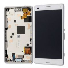 Sony Xperia Z3 Compact LCD with Digitzer Assembly White with Front Housing. #SonyXperia #Parts