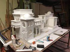 Christmas Stage, Christmas Layout, Xmas, Villa Minecraft, Diy Crib, Cribs, Miniatures, Ube, Pakistan