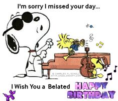 Discover & share this Gif Snoopy Woodstock Music Belated Happy Birthday Piano Joe Cool GIF with everyone you know. GIPHY is how you search, share, discover, and create GIFs. Happy Birthday Snoopy Images, Happy Birthday Piano, Belated Happy Birthday Wishes, Snoopy Birthday, Birthday Poems, Birthday Wishes For Friend, Birthday Blessings, Birthday Cards, Snoopy Und Woodstock