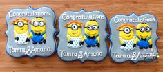 By Karens cookie jar Minion Cookies, Cookie Jars, Minions, Congratulations, Sugar, Desserts, Food, Characters, Tailgate Desserts