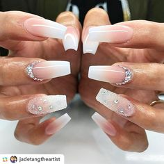 20 Worth Trying Long Stiletto Nails Designs awesome 25 Fancy White Coffin Nails – Bright and Fasionable Designs Long Stiletto Nails, White Coffin Nails, White Nails, Long Nails, Diamond Nail Designs, Diamond Nails, Nail Art Designs, Nails With Diamonds, Coffin Nail Designs