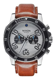 Nixon Mens Watch Ranger Chrono Leather 44mm