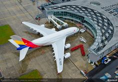 ASIANA380 handover ceremony from Airbus to Asiana on May 26th. #airbus #Asiana #a380