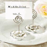 Rose Design Place Card Holder