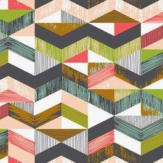print & pattern: josephine kimberling (this would make a great quilt pattern) Geometric Patterns, Graphic Patterns, Textile Patterns, Textile Prints, Print Patterns, Lino Prints, Block Prints, Surface Pattern Design, Pattern Art