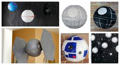Satr Wars Party Decor Chinese Lantern Space Ships Planets