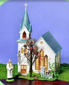 Dept 56 Snow Village HAPPY EASTER CHURCH 3pc #55325 NRFB Sealed Retired 2005