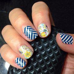 """My nails are ready for Park City! Slatted Herringbone and Sweet Whimsy. NoPolishNoProblem.com #slattedherringbonejn #sweetwhimsyjn"""