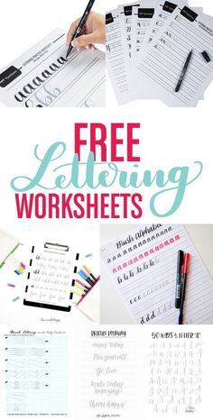 FREE lettering worksheets to help you begin practicing and jumpstart your lettering journey. Tombow's Free Lettering Worksheets We've created sets of free lettering worksheets sized specifically for our Dual Brush Pens and Fudenosuke Calligraphy …