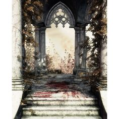 Распакованные фоны. | Shareapic.net ❤ liked on Polyvore featuring backgrounds, tubes, stairs, arches and gothic