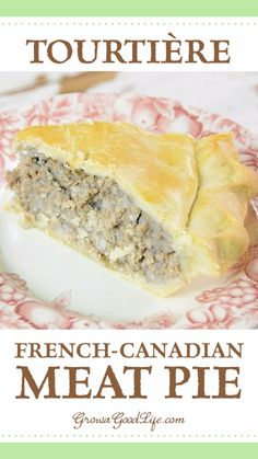 Tourtière: A French-Canadian Meat Pie Recipe Tourtière is a traditional French-Canadian meat pie enjoyed throughout Canada and New England. French Canadian Meat Pie Recipe, French Meat Pie, Canadian Food, Canadian Recipes, French Pork Pie Recipe, French Meal, Canadian Dishes, Meat Recipes, Cooking Recipes