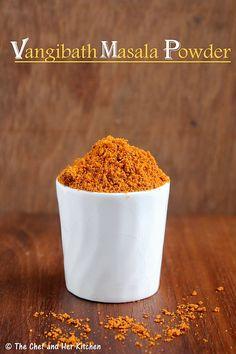 "Vangibath Powder Recipe |     Ingredients: 1/2 cup Chana dal 1/2 cup Urad dal 1 big lemon sized Tamarind 1 heaped cup grated Dry Coconut 12-15 Byadige Red chillies(gives nice red color) 12-15 Guntur Red Chillies 1/4 cup Coriander seeds 2"" Cinnamon,2 pieces 8-10 Cloves 7-8 Marathi Moggu 3-4 Star Anise Salt 2 tsp Oil"