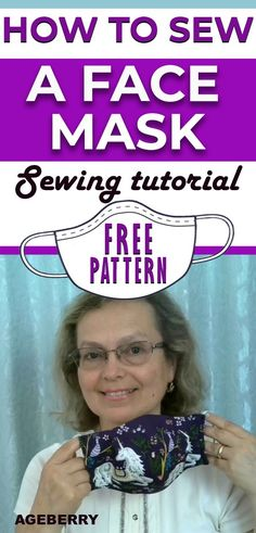 This is a video sewing tutorial on how to sew a face mask from fabric. You will find a free sewing pattern for your own face mask. DIY fabric face mask is an easy sewing project even for a beginner sewist. Easy Sewing Projects, Sewing Projects For Beginners, Sewing Hacks, Sewing Tutorials, Sewing Crafts, Sewing Tips, Sewing Patterns Free, Free Sewing, Free Pattern