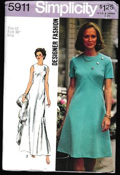 Simplicity 5911 Designer Fashion Miss Petites and by OutoftheConex