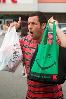 Famous actor Adam Sandler at Kmart in the movie Grown Ups 2. Sandler is a registered Republican and continually endorses Republicans.