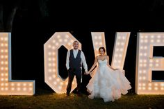 Rent Marquee Letters for your wedding or event today! 7 FEET TALL Marquee Letters from A-Z! Made out of Real Wood with Frost Glass Bulbs Rent words like LOVE, BAR, MR, MRS or Create a #Hashtag Rent individual letters for initials (i.e A&J) Customize your letters (color/size/bulb color) Most Delivery and Set up Included in the San Diego Area