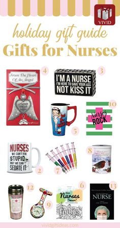 Holiday gift guide for nurses and nursing students.