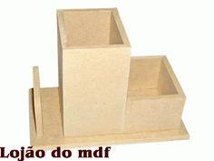 Porta-lápis-clips-cartão mdf -