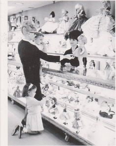 The doll department at Hess's, Allentown, PA, 1966