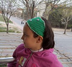 Crochet headband in green spring summer 2013 by KnitterPrincess, $12.90