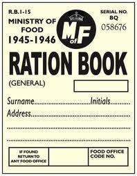 Rationing Book Template | Duty Ratio Card World War 2 Giftsite Co