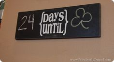 Chalkboard countdown easy DIY craft tutorial. Such a great idea that can stay up year round for all occasions. The kids will love this.