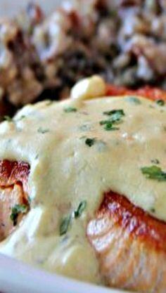 Pan Seared Salmon with Creamy Garlic Dijon Sauce