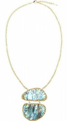 Isharya Abalone Gold-plated Necklace