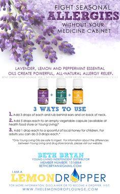 Essential oils for ALLERGIES! via Unskinny Boppy
