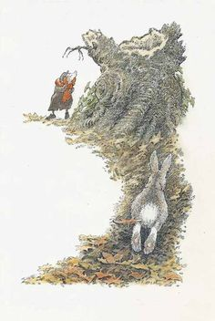 Inga Moore illustrations from the book Wind in the Willows.