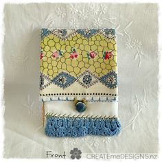 POUCH | Antique Blue by CREATEmeDESIGNS on Etsy Fabric Scraps, Little Gifts, Doilies, Gifts For Women, Sunglasses Case, Craft Supplies, Coin Purse, Pouch, Embroidery