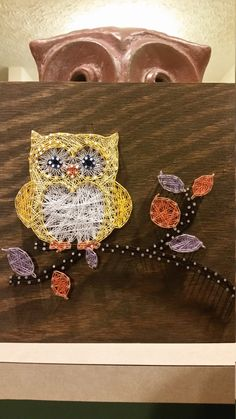 Little Owl String Art Sign Made to Order by RubyOwlDesigns on Etsy