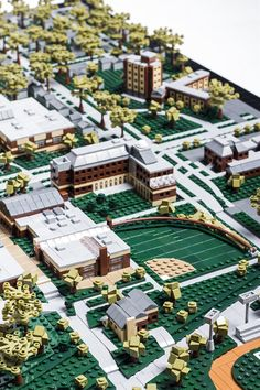 A 3'x4' commissioned model of my college campus for our Admissions Office, this model has been in the works for almost two years, and uses over 15,000 pieces!
