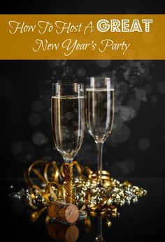 You can have a great New Year's party with just a few simple steps. Be sure to make your home decor festive, make a few awesome appetizers and ask others to bring snack-type food, serve fun cocktails, and have a few get-to-know-you games!