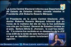 Declaraciones de la JCE y Embajada de USA con respecto a la cancelación del…
