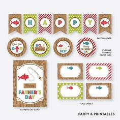 I Love Fishing Father's Day Free Printables | CatchMyParty.com