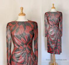 80s Dress / Vintage Rocker Glam / Sparkle by DuncanLovesTess, $64.00