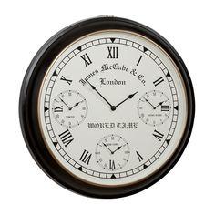 World Timer Wall Clock - Ethan Allen US