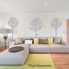 Tree Wall Sticker, Nature Wall Sticker, Birds Wall Sticker....love everything about this room#Repin By:Pinterest++ for iPad#