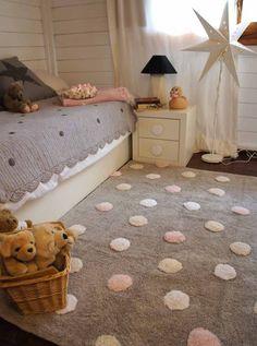 Kaufen Sie Lorena Canals Baumwollteppich waschbar farbige Punkte grau rosa  für 139 f1b17e64f56