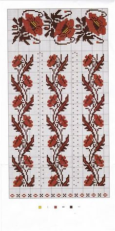 схемка вишиванки Cross Stitch Borders, Modern Cross Stitch Patterns, Cross Stitch Charts, Cross Stitch Designs, Cross Stitching, Folk Embroidery, Beaded Embroidery, Cross Stitch Embroidery, Embroidery Patterns