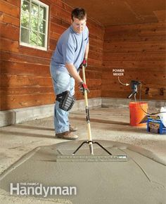 DIY Basics: Fixing a Pitted Concrete Floor