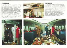 Airlines Past & Present: Air Canada Boeing 747 Introduction Early 1970's & Vintage Air Canada Stewardess Flight Attendant Uniform Early 1970...