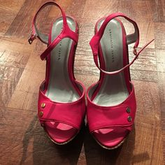 Like New Pink Wedges Dark Pink Charlotte Russe Shoes Wedges