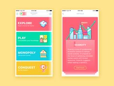 Hello guys! As usual, I have decided to add some bright colors to your day, so meet a new shot. Here are the screens for my new design concept. Moneywise is the educational mobile application for t...