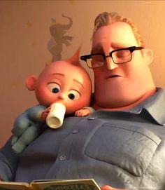 Jack Jack demands his story time. {Incredibles {Emergency Disney to Make you Smile} Disney Pixar, Walt Disney, Disney Animation, Disney Incredibles, Disney And Dreamworks, Disney Cartoons, Disney Love, Disney Magic, Animation Movies