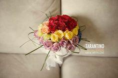 foto tarantino studio - napoli . bouquet tema arcobaleno per matrimonio rainbow